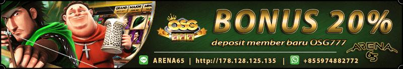 Deposit Game Slot Termurah OSG777 - ARENA65